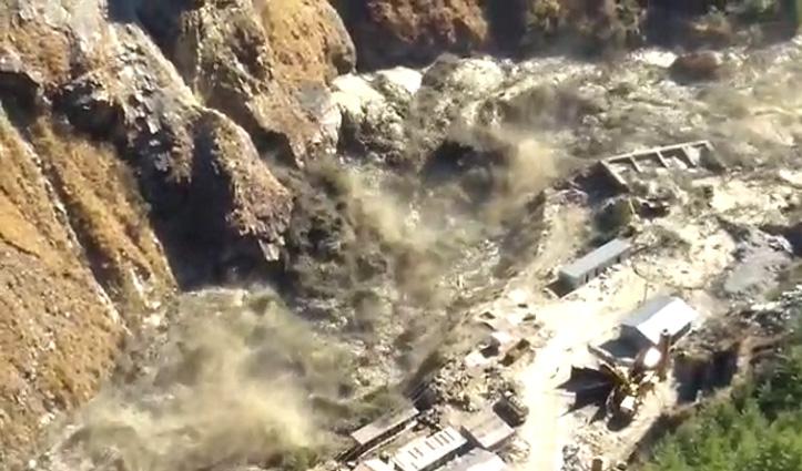 उत्तराखंड के चमोली में ग्लेशियर टूटने से भारी तबाही, कई लोगों के बहने की आशंका,अलर्ट जारी