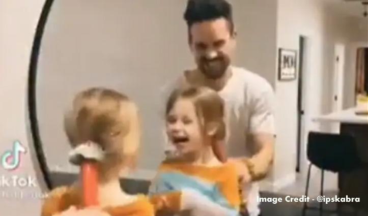 पिता ने ऐसा लगाया जुगाड़, 5 सेकंड में बना दी बेटी की चोटी, देखिए Video