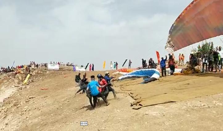 Himachal के इस जिला में शुरू हुई राष्ट्रीय स्तरीय पैराग्लाइडिंग प्रतियोगिता