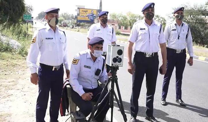 ओवरस्पीड वाहन चालकों पर ऊना पुलिस का शिकंजा, स्पीड गन का हो रहा इस्तेमाल