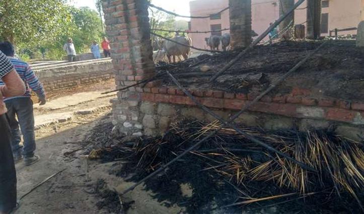 Una: डेयरी फार्म में लगी आग, 8 पशुओं सहित एक व्यक्ति भी झुलसा, गंभीर घायल