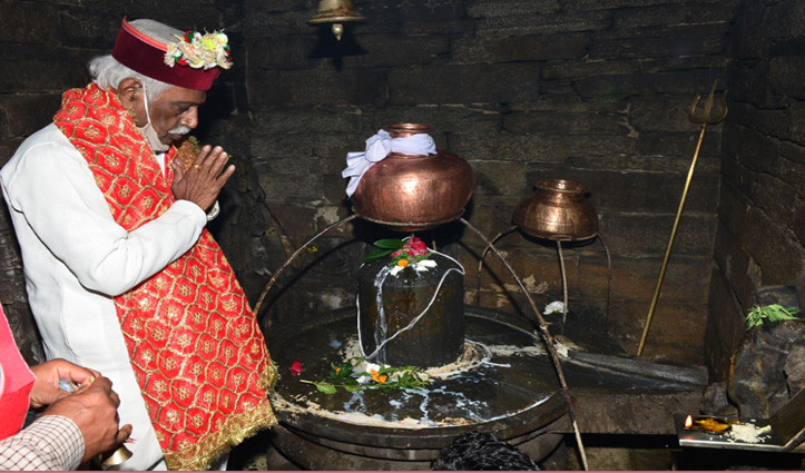 राज्यपाल ने हाटकोटी शिवमंदिर में की पूजा