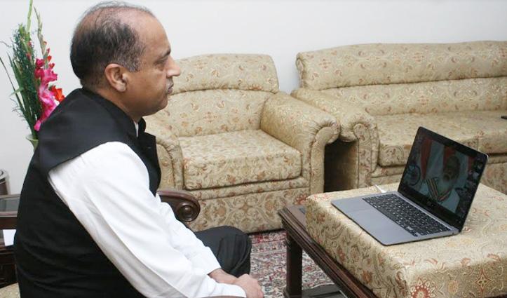 जयराम ठाकुर ने आजादी की 75वीं वर्षगांठ की राष्ट्रीय समिति की बैठक में लिया भाग