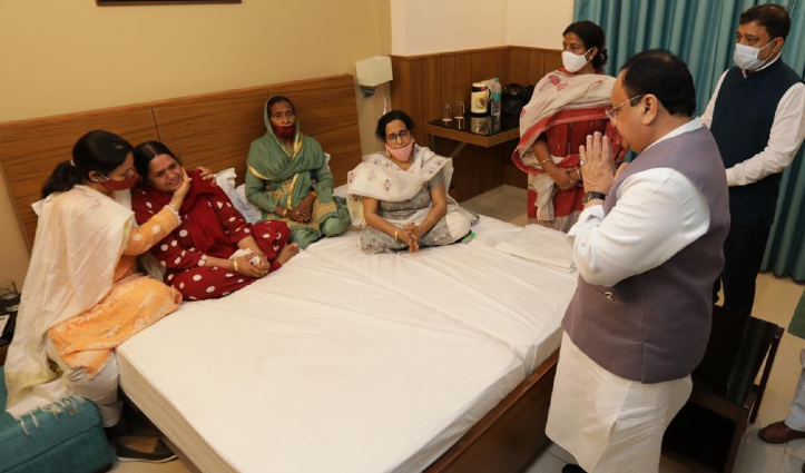 रामस्वरूप शर्मा की पत्नी-बेटे से मिलकर JP Nadda ने जताया शोक, कल 11 बजे अंतिम संस्कार