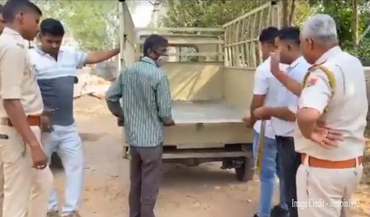 नशे का सामान ले जाने के लिए भिड़ाई जुगत, पुलिस भी निकली दो कदम आगे… देखें ये वीडियो