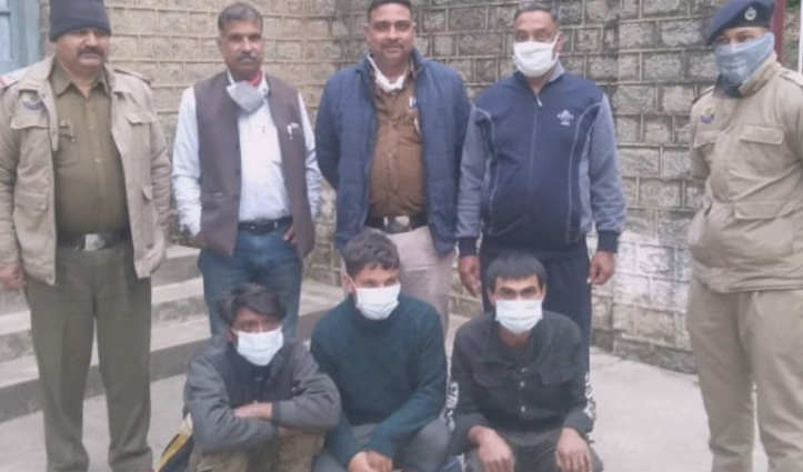 Himachal में टायर चोर गिरोह के तीन सदस्य गिरफ्तार, दर्जन भर टायर और रिम भी किए बरामद