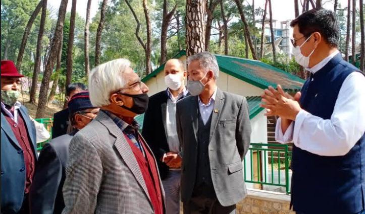 तिब्बत के राष्ट्रपति लोबसांग सांगेय ने किया शहीद स्मारक में चिल्ड्रन पार्क का उद्घाटन