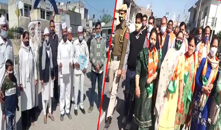 विधानसभा प्रकरण : BJP ने विरोध प्रदर्शन कर राष्ट्रपति को भेजा ज्ञापन, कांग्रेस सेवा दल ने भी खोला मोर्चा