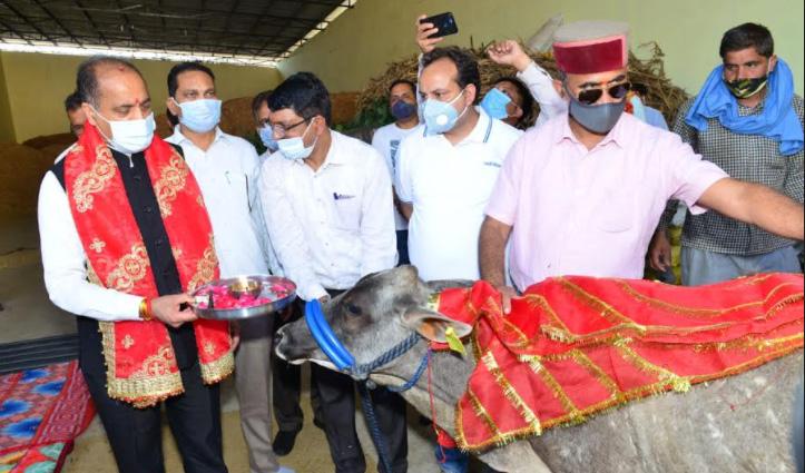 सीएम ने गौ अभ्यारण्य का किया दौरा