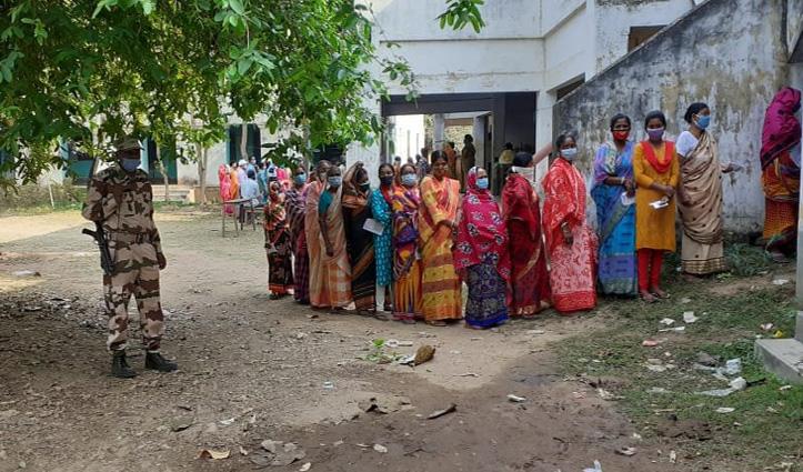 पश्चिम बंगाल में पांचवे चरण के मतदान के दौरान हिंसा,TMC MLAकी कोरोना से मौत