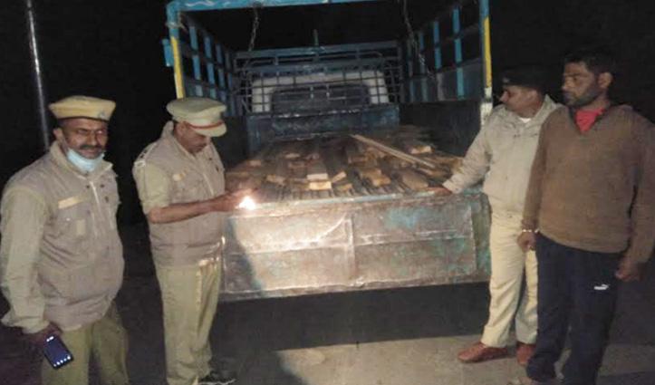Himachal : पिकअप में ले जाई जा रही थी अवैध लकड़ी, चालक सहित तीन गिरफ्तार