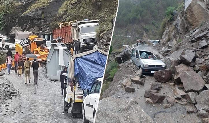 Himachal:किन्नौर में पहाड़ से गिरे पत्थरों की चपेट में आया मजदूर, मौके पर गई जान