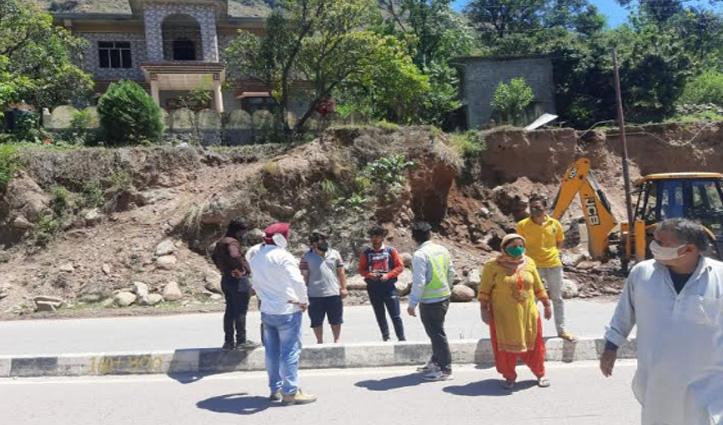 सुंदरनगरः पुलिस की मौजूदगी में शुरु हुआ जड़ोल और चमुखा में फोरलेन का कार्य
