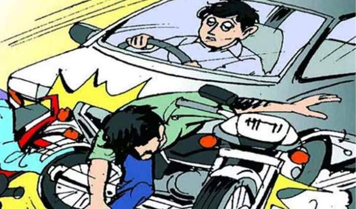 Himachal : कांगड़ा में कार चालक ने बाइक को मारी टक्कर, युवती की गई जान-युवक गंभीर घायल