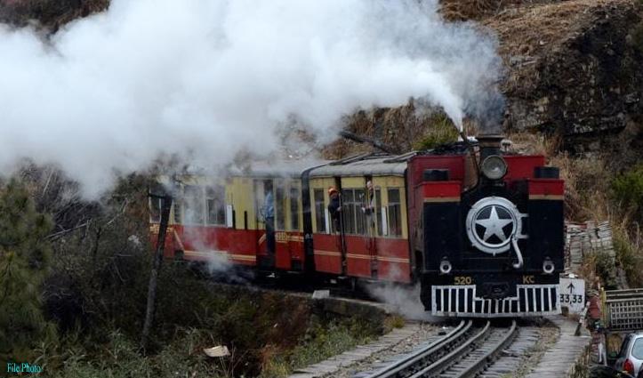Himachal : विश्व धरोहर शिमला-कालका रेलवे ट्रैक पर एक बार फिर दौड़ा स्टीम इंजन
