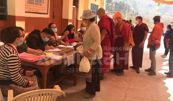 तिब्बतियों के PM-45 सदस्यों के लिए Voting जारी, मैक्लोडगंज में दिखा खासा उत्साह