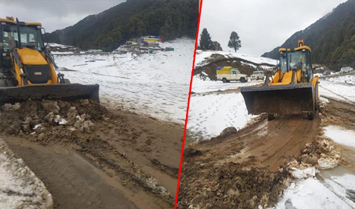 शिकारी देवी में फंसे 25 पर्यटक निकाले, कल से बंद हो जाएगा मंदिर
