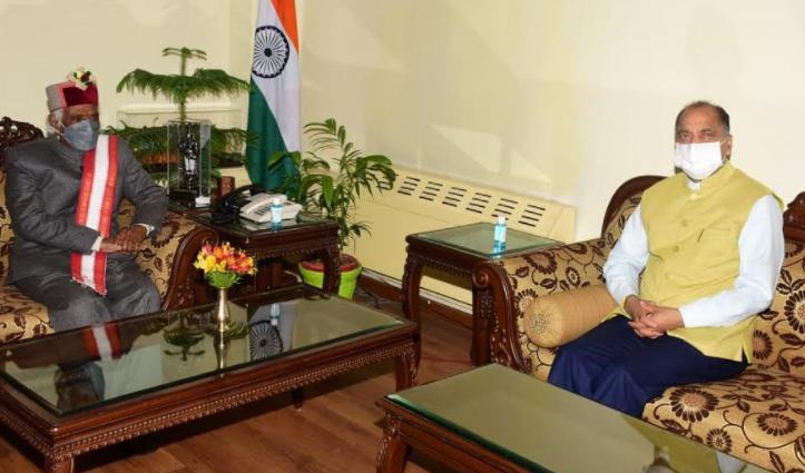 राज्यपाल से मिले जयराम ठाकुर