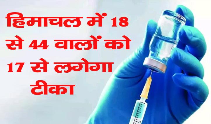 Big Breaking: हिमाचल में 18-44 वर्ष के आयु वर्ग वालों को 17 मई से लगेगा Corona का टीका