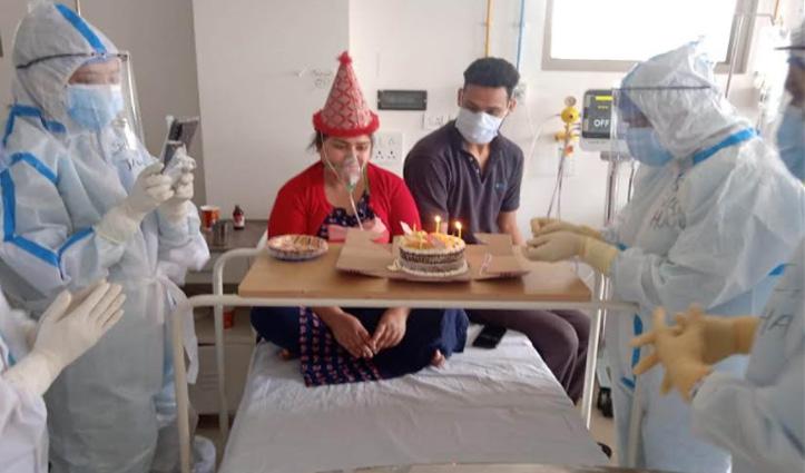 टांडा में 'हैप्पी बर्थडे टू यू', कोरोना पॉजिटिव महिला का ऐसे मनाया जन्मदिन