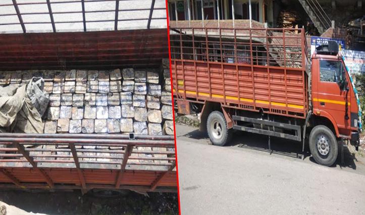 Mandi: वन विभाग की टीम ने टेंपो से पकड़ा बिरोजा, 130 टीन बरामद