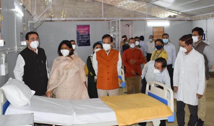 Chief Minister Jai Ram dedicates Makeshift Hospital at Paraur in Palampur