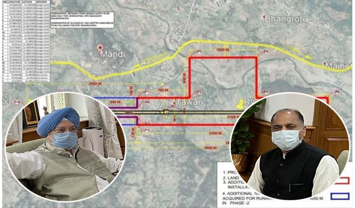Mandi Airport : निर्माण की लागत केंद्र तो हिमाचल भूमि अधिग्रहण का खर्च वहन करेगा !