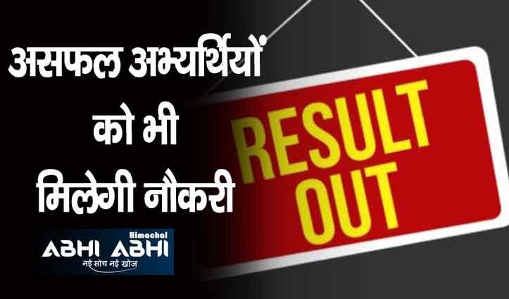 हिमाचल: कंपनी ने 207 पदों के लिए ली लिखित परीक्षा का परिणाम घोषित, जाने कौन हुए सफल