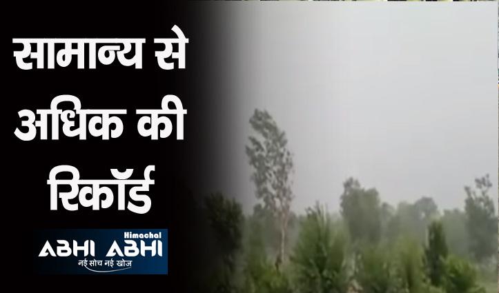 हिमाचल : इस माह चार जिलों में खूब बरसे मेघ, अब तक 39% अधिक बारिश