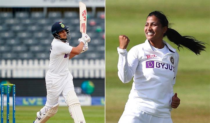 भारतीय महिला बल्लेबाज शेफाली वर्मा और स्नेह राणा ICC प्लेयर ऑफ द मंथ अवार्ड के लिए नॉमिनेट