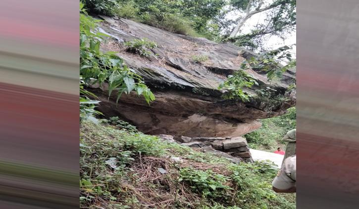 नागार्जुन चट्टान ने डराई छोटी काशी, 25 परिवारों को घर खाली करने के नोटिस