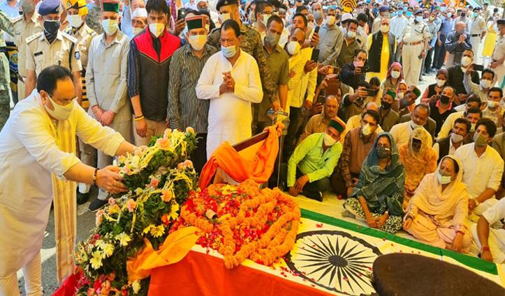 वीरभद्र सिंह को नम आंखों से जेपी नड्डा ने दी श्रद्धांजलि, बोले- मैंने अपना दोस्त खोया