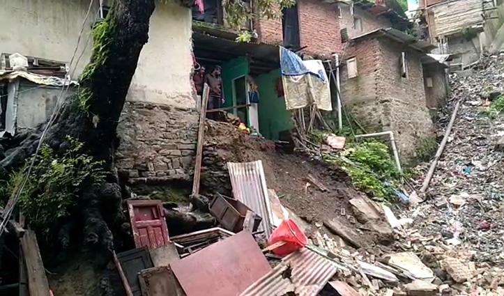 शिमला में बारिश का कहरःकच्चे मकान का हिस्सा ढहा, एक बच्ची गंभीर घायल