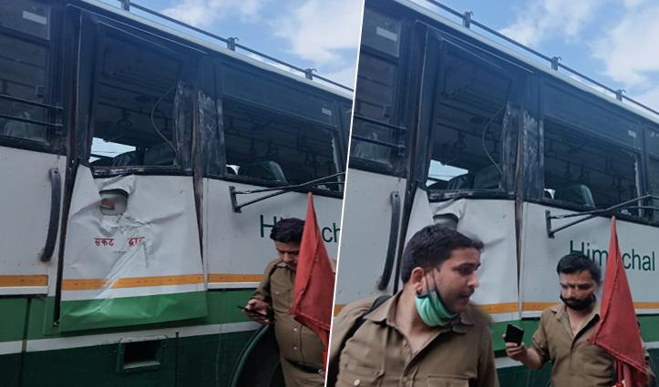 हिमाचल: किन्नौर में फिर गिरा एचआरटीसी बस पर मुसीबतों का पहाड़, एक महिला समेत किशोर घायल
