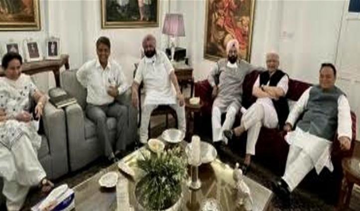 सोनिया से मुलाकात के कुछ देर बाद ही अमरिंदर ने पंजाब के चुनिंदा सांसदों के साथ बनाया गठजोड़
