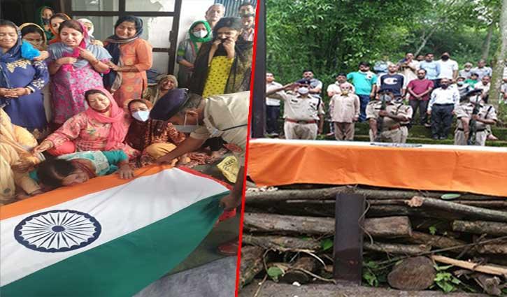 हिमाचल के जवान को नम आंखों से दी अंतिम विदाई, कल चंडीगढ़ में तोड़ा था दम