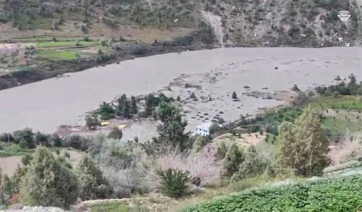लाहुल लैंडस्लाइड: इंसानी जान का अब तक नुकसान नहीं, 5 मवेशियों की मौत, कई हेक्टेयर फसल बर्बाद