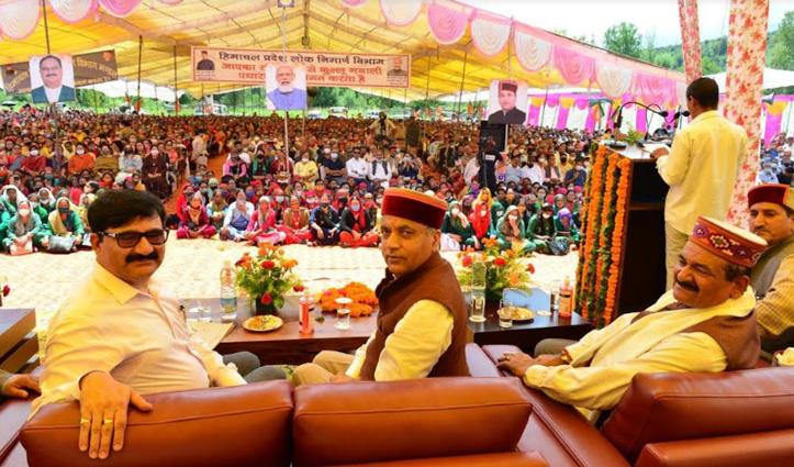 CM Jai Ram Thakur announces Jal Shakti Division at Manali and PHC at Sajla