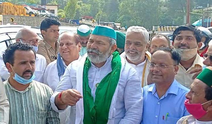 हिमाचल पहुंचने पर किसान नेता टिकैत का विरोध- सोलन मंडी में हंगामा