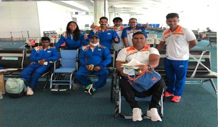 रियो पैरालम्पिक के स्वर्ण पदक विजेता मरियप्पन सहित आठ लोग टोक्यो पहुंचे