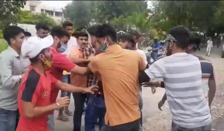 पीजी कॉलेज ऊना में छात्रों संगठनों के बीच झड़प, कपड़े भी फटे, तीन पहुंचे  घायल
