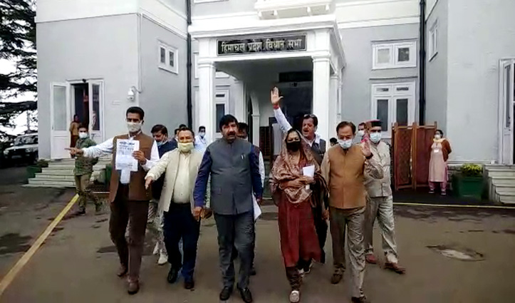 मानसून सत्रः दिवंगत सांसद रामस्वरूप शर्मा की मौत पर हंगामें के बीच विपक्ष का वॉकआउट