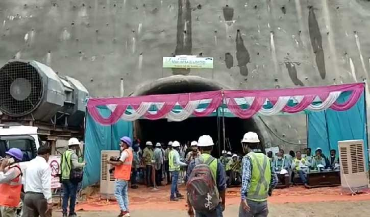हिमाचल: बिलासपुर-भानुपल्ली रेल लाइन की सुरंग 5 के दोनों सिरे मिलाए, 7 में 5 सुरंगों का काम पूरा