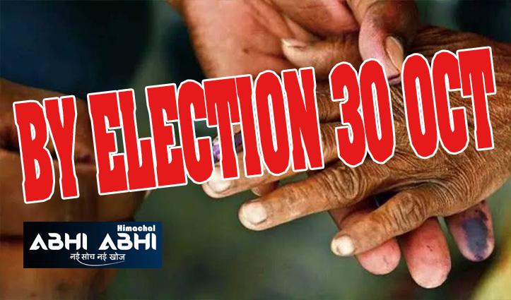 ब्रेकिंगः हिमाचल में उपचुनावों का शेडयूल जारी, 30 अक्टूबर को डाले जाएंगे वोट