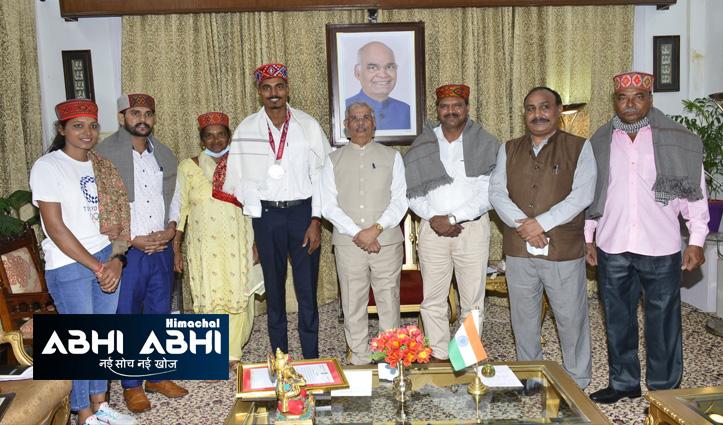 हिमाचल: निषाद कुमार ने की CM जयराम और राज्यपाल आर्लेकर से मुलाकात