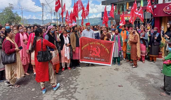 हिमाचल: सड़क पर उतरे मिड डे मील कर्मचारी, इन मांगों को लेकर मचा रहे बवाल