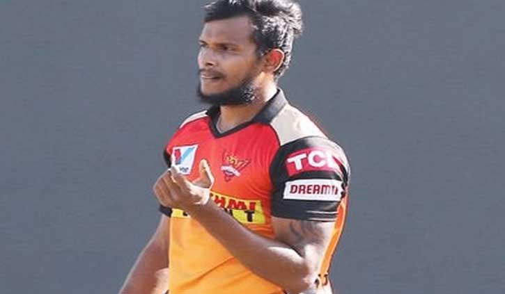 IPL-2021: सनराइजर्स हैदराबाद के खिलाड़ी नटराजन कोविड-19 की चपेट में