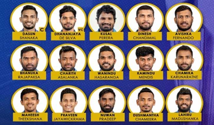 दासुन शनाका टी 20 विश्व कप 2021 के लिए 15 सदस्यीय श्रीलंकाई टीम का नेतृत्व करेंगे