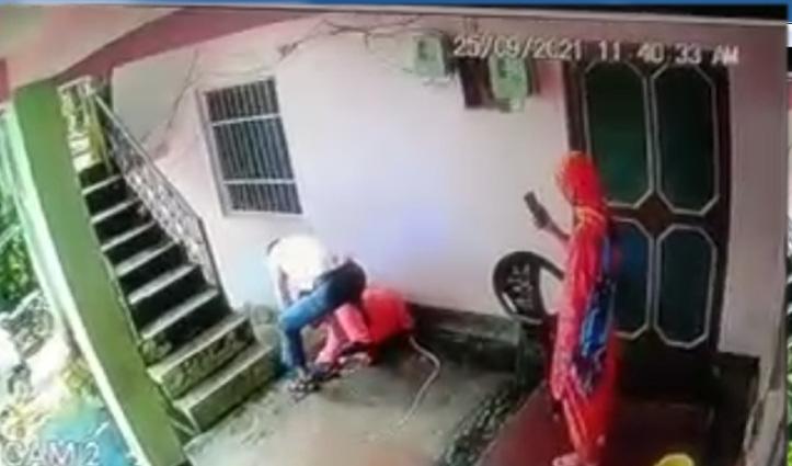 हिमाचल: देवर ने भाभी की कर दी बेरहमी से पिटाई, सीसीटीवी में कैद हुई मारपीट