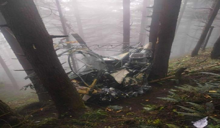जम्मू-कश्मीर के उधमपुर में सेना का हेलीकॉप्टर दुर्घटनाग्रस्त, दो पायलट घायल